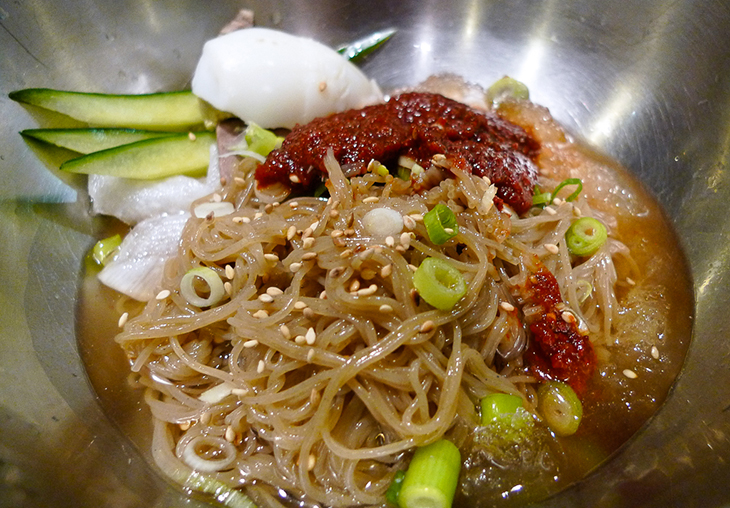 bibim naengmyun cold noodle dish at seoul house restaurant thornhill