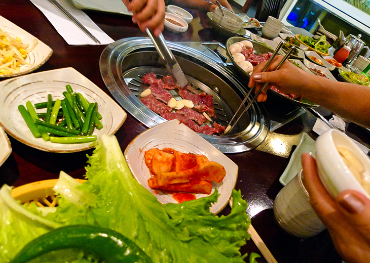 korean barbecue meal at seoul house restaurant toronto