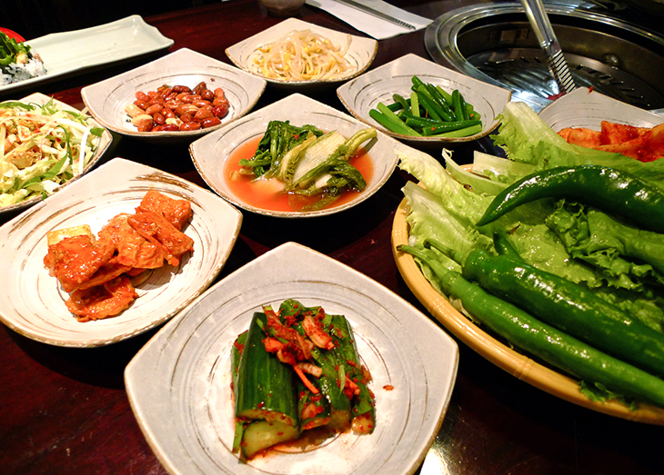 banchan at seoul house restaurant toronto