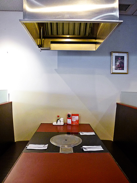 table-top grill at seoul house restaurant thornhill