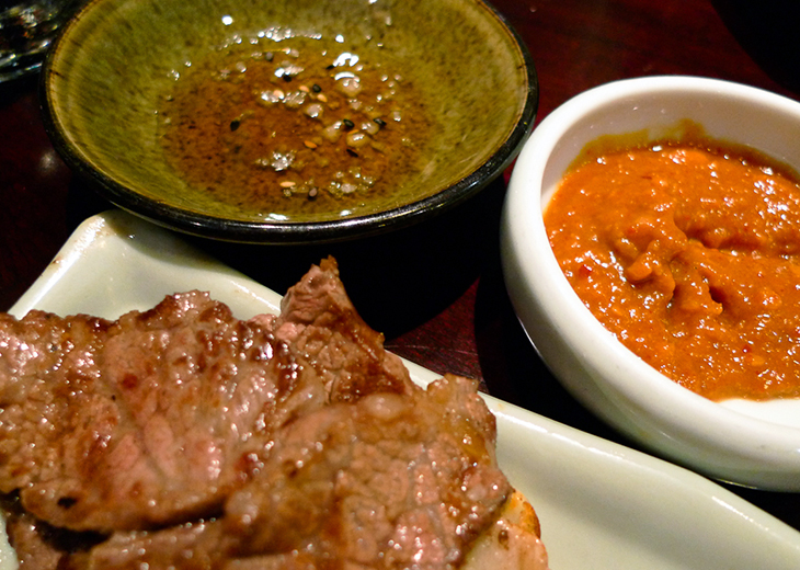 dipping sauces for jumuluk at seoul house restaurant toronto