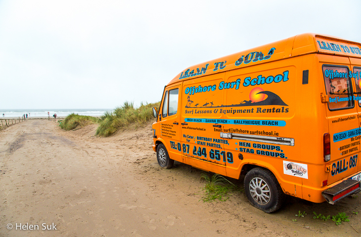 ireland beach, offshore surf school, inch beach