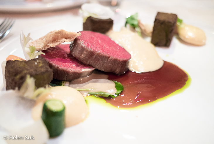 beef dinner at the observatory restaurant at grouse mountain vancouver restaurants