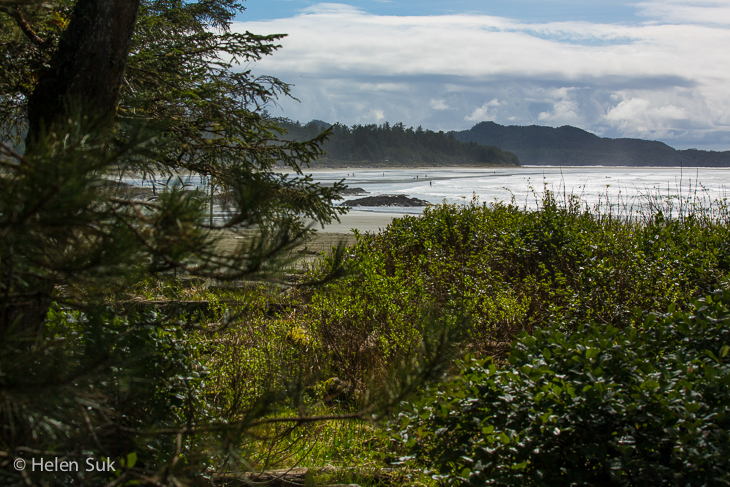 view of north chesterman beach from a guest suite at the wickaninnish inn