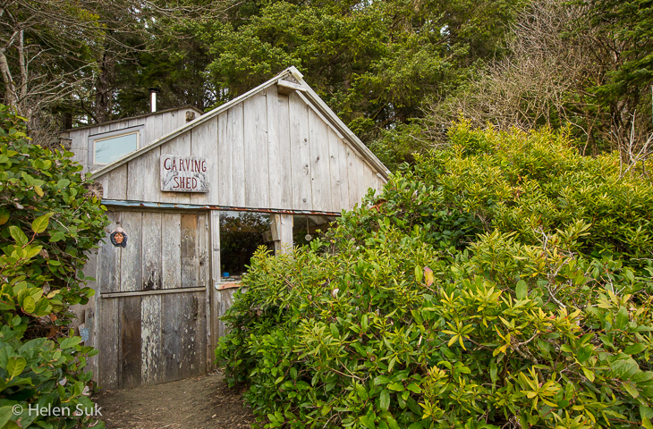 wickaninnish inn, carving shed