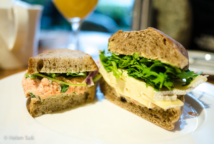 sandwich from the driftwood cafe at the wickaninnish inn