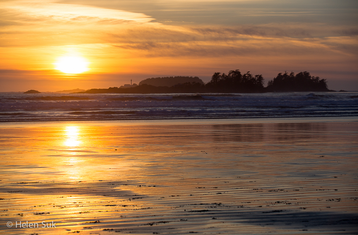 sunrise on cox bay beach tofino bc