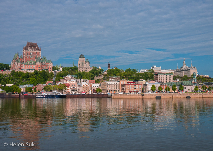 view of quebec city from the river