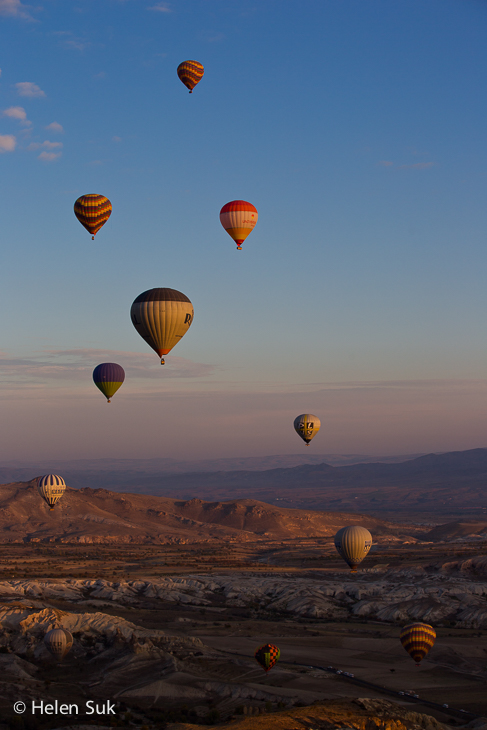 the spectacular view from a hot air balloon ride in turkey