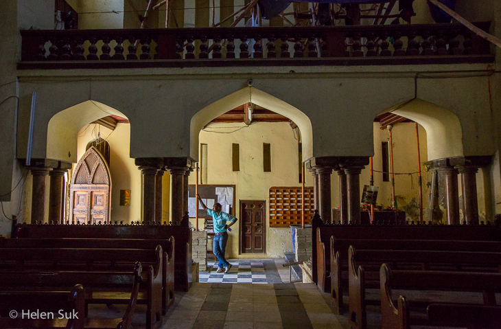 anglican cathedral, slave market, stone town