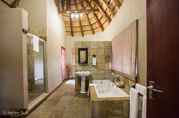 arathusa safari lodge bathroom in standard room