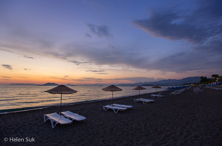 calis beach sunset