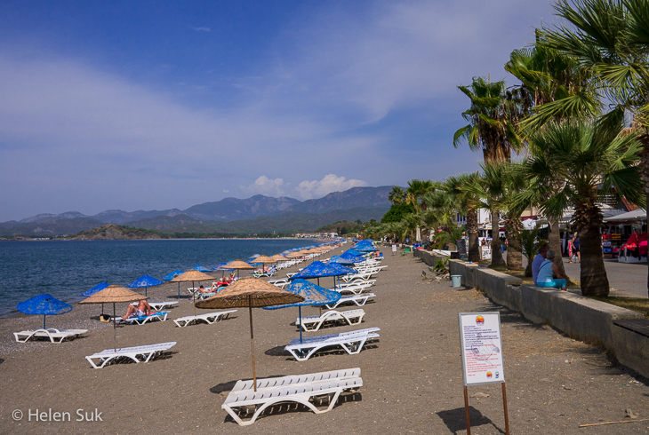 calis beach turkey