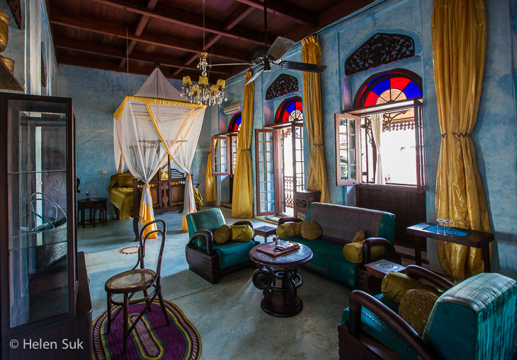 colorful guest room at emerson spice hotel in stone town zanzibar