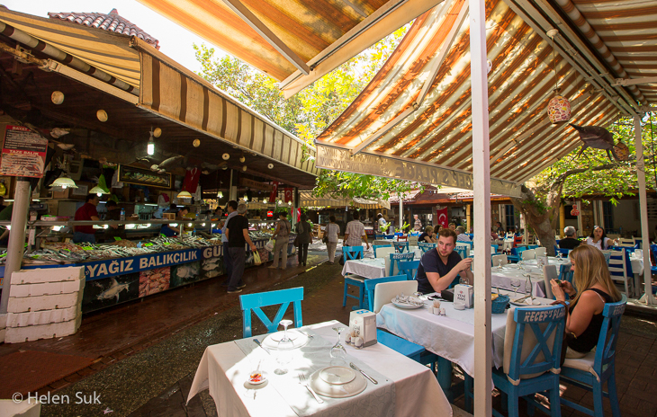 hilmi restaurant in the fethiye fish market