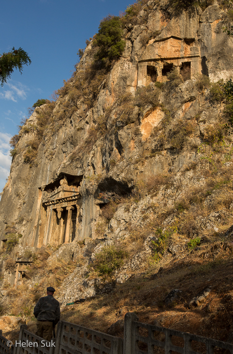 lycian rock tombs in fethiye turkey