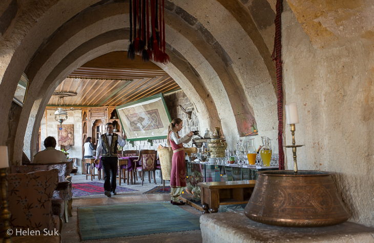 dining in the restaurant at the museum hotel cappadocia