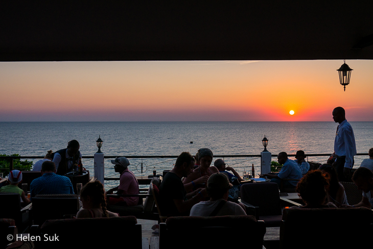 stone town sunset, bars in stone town, africa house hotel bar