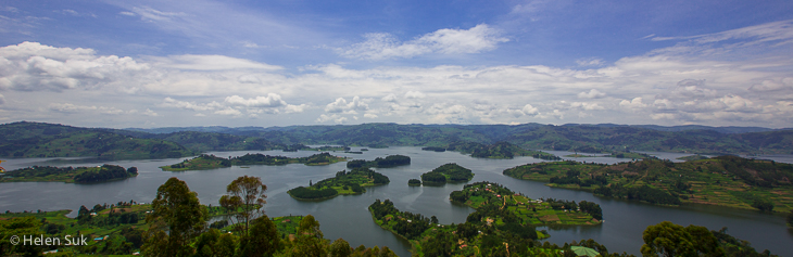 lake bunyonyi panorama, uganda travel