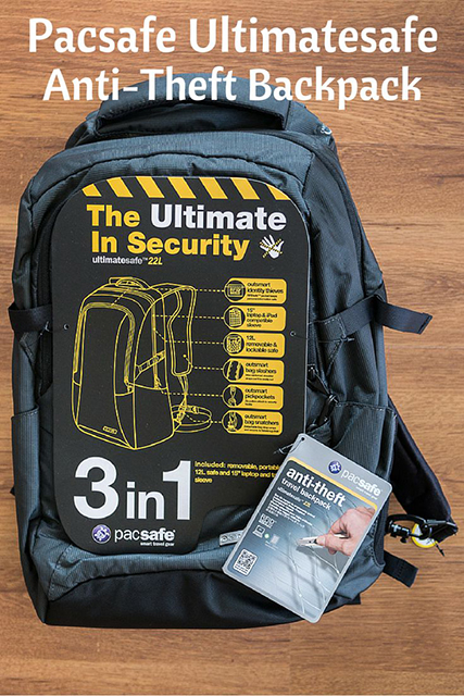 pacsafe ultimatesafe 22l anti-theft backpack, travel bag