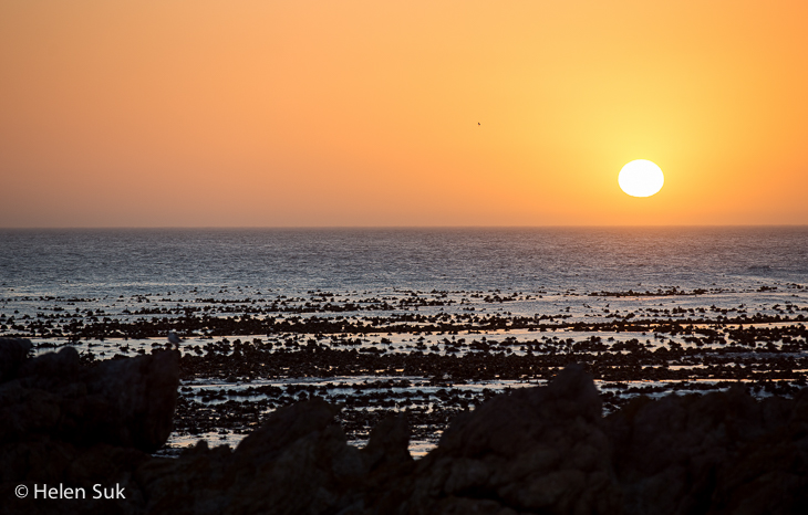 sunset in sandbaai hermanus