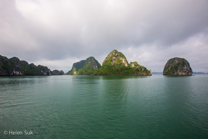 emerald waters and islets in halong bay vietnam