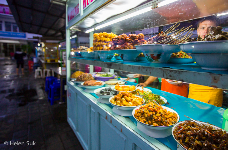 bali food market, sanur night market