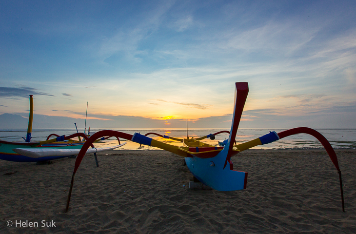 bali sunset, sanur beach
