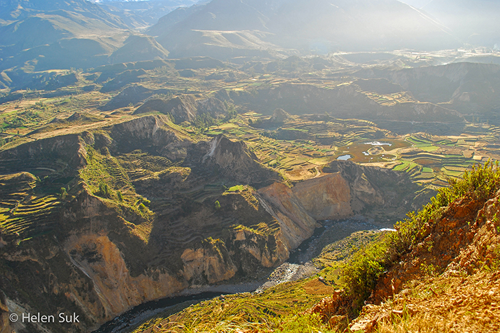 landscapes of colca canyon peru
