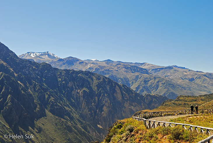 mountains in colca valley peru