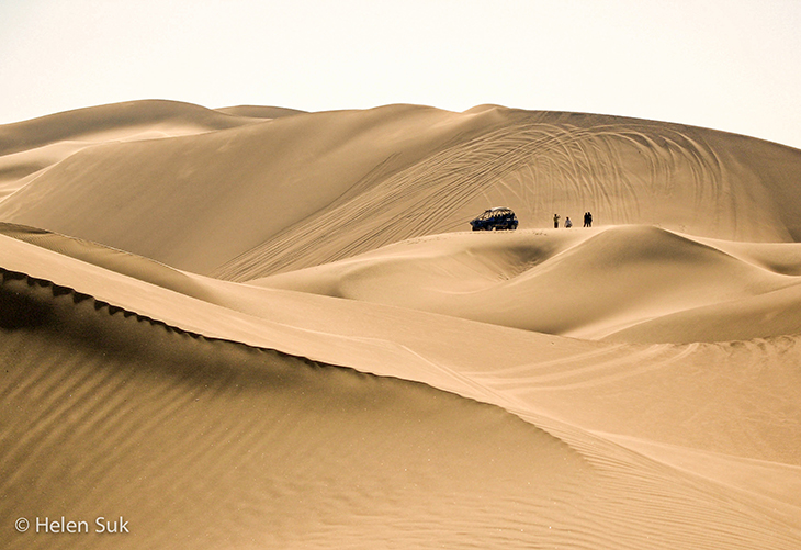 sand dunes in huacachina desert in peru
