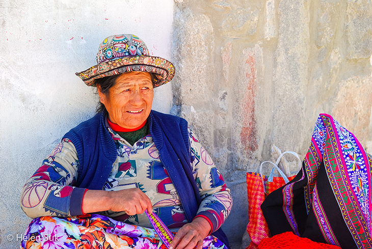 peruvian woman in pisac