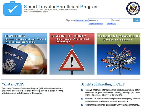 smart traveler enrollment program, american travel registry, travel safety, travel tips