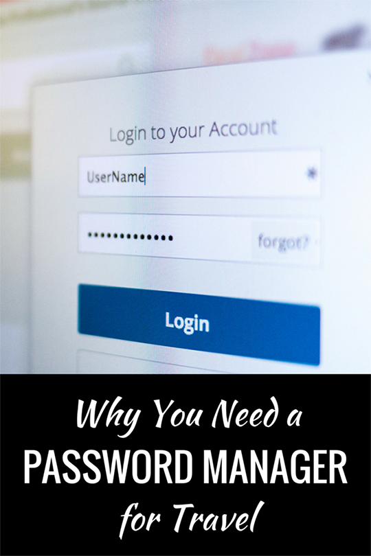 travel password management, travel tips