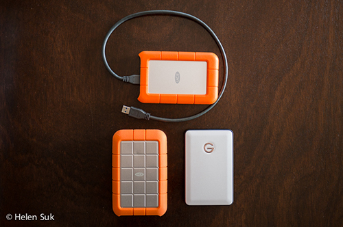 portable hard drives, travel photography gear