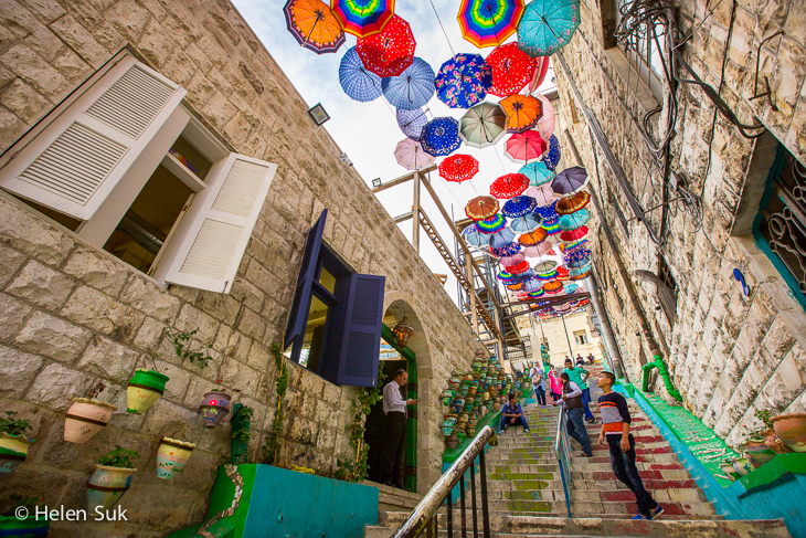umbrella art, amman, jordan
