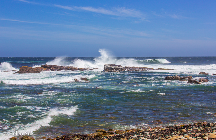 crashing waves of the ocean at the cape of good hope