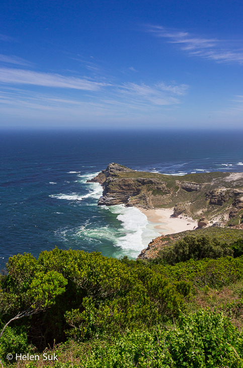 windswept cove at cape point south africa