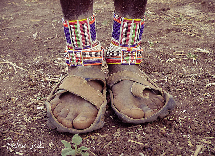 tire sandals, recycled shoes, african sandals, maasai, kenya, feet