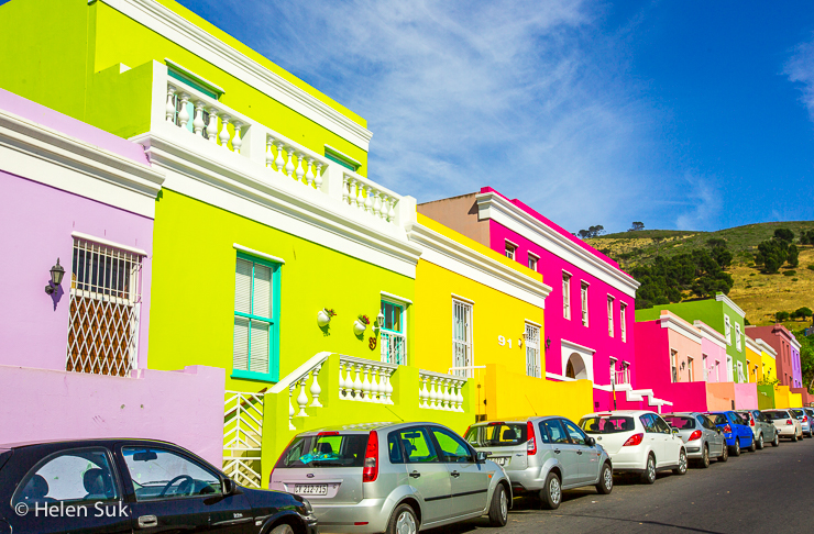 colourful homes in bo kaap cape town