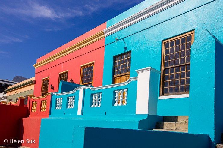 the vibrant coloured houses in bo kaap cape town