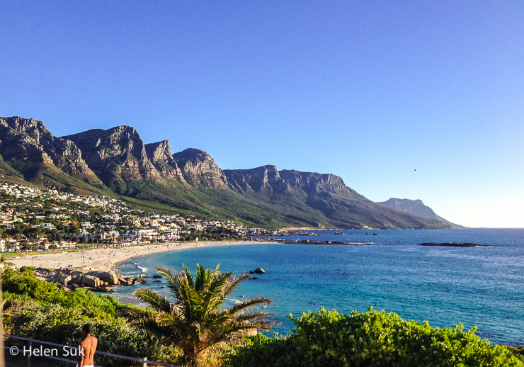 camps bay beach with the twelve apostles as the backdrop