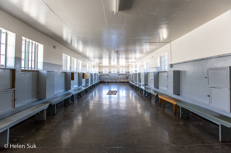 inside robben island prison in cape town south africa