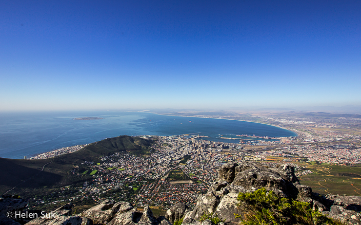 view of cape town from table mountin