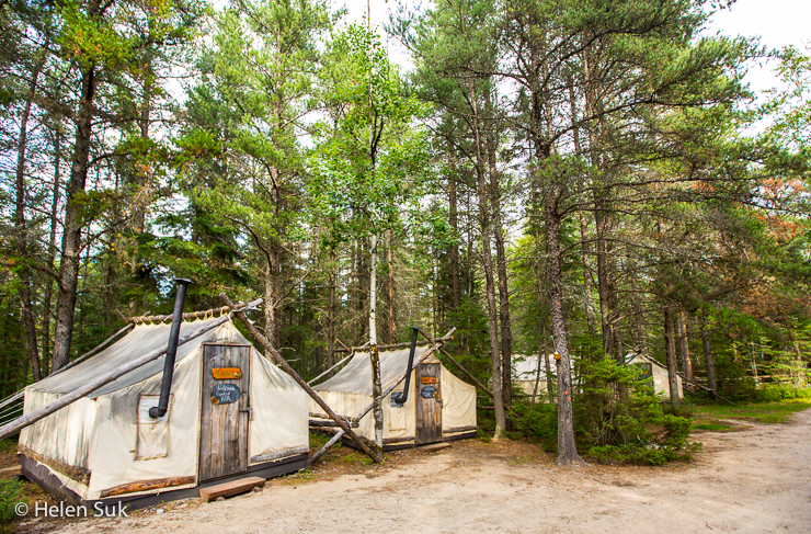 campsite at zoo st felicien