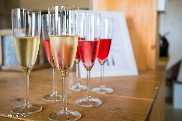 glasses of wine during a wine tour with sandbanks vacations and tours