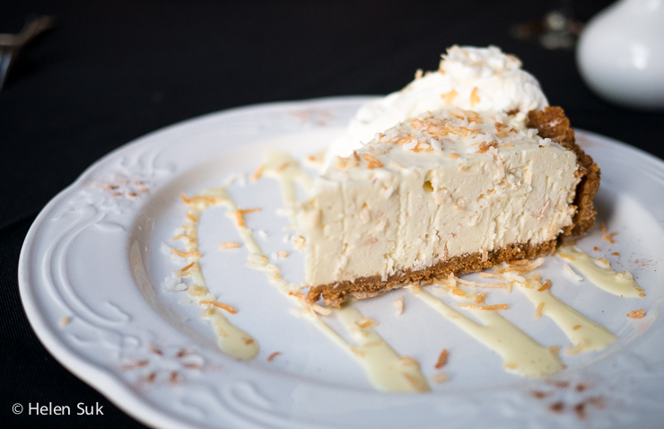 slice of coconut cream pie at the waring house