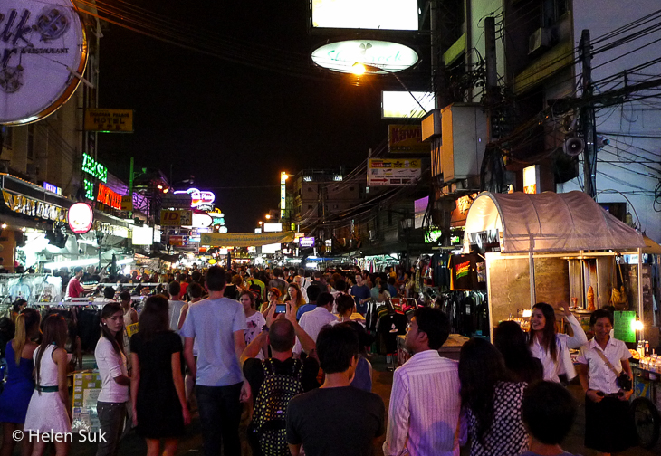 The chaos of Bangkok at night.