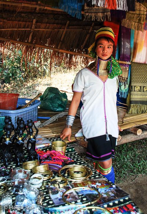 karen long neck hill tribe in thailand