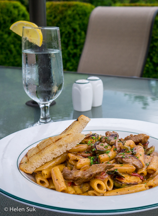 penne with beef tenderloin at digby pines
